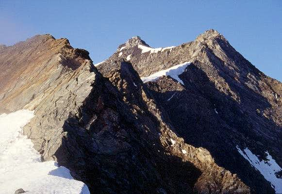 NE ridge of the Roetspitze,...