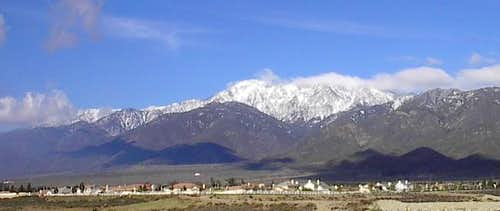 A view of Cucamonga Peak from...