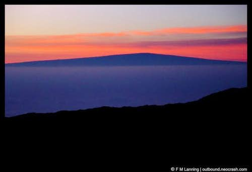 Mauna Loa seen from the top...