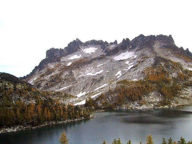 McClellan Peak under grey...
