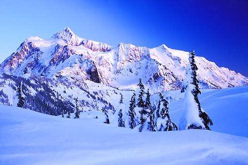 A snowy Mt Shuksan, Dec 23,...