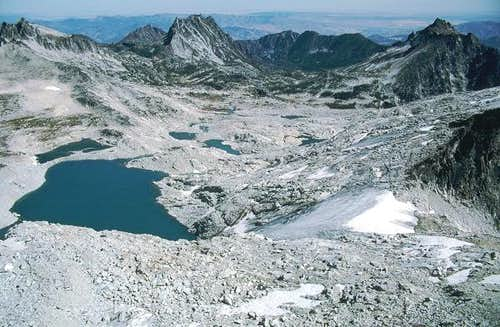 The upper Enchantment Lakes...