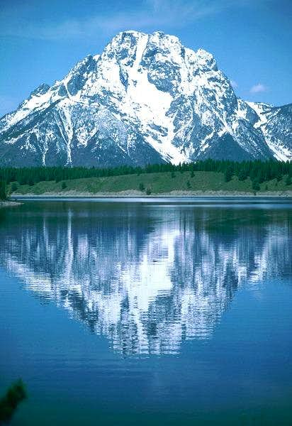 Mt. Moran reflected in...