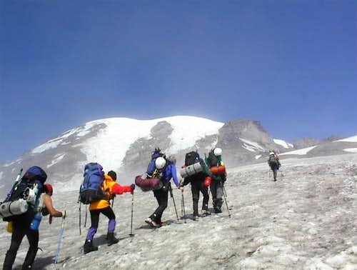 Our group heading up the Muir...