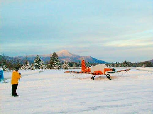 Wintry view of Whiteface from...