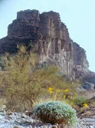 Picacho Peak from northeast....