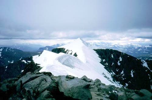 The south summit of...