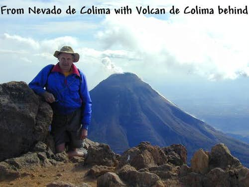 The very active Volcan de...
