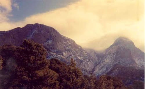 North end of Sandia Peak as a...