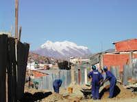 Illimani seen from La Paz...