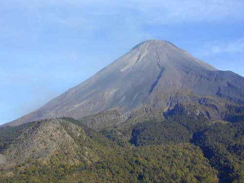 Volcan de Fuego from a flyby