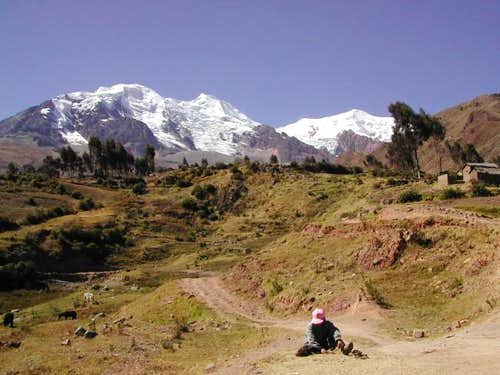 Illimani seen from Pinaya.
