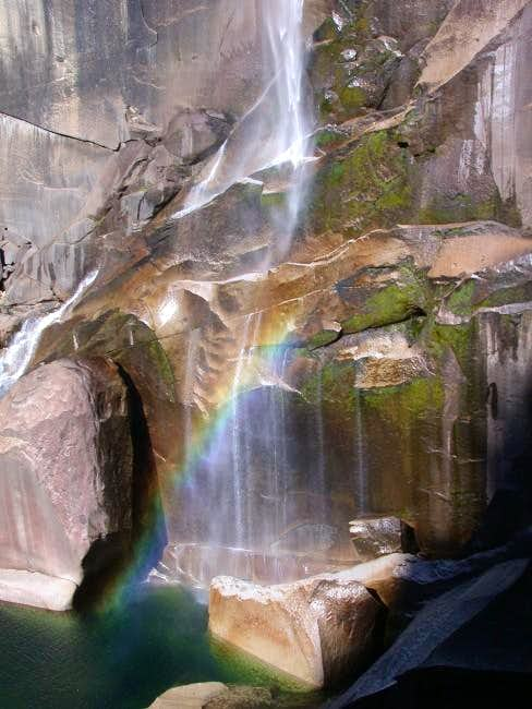 Vernal falls as we descended...