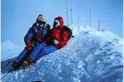 on the summit of Mount...
