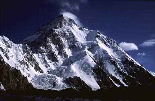 K2 in the early morning,...