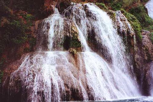 Navajo Falls, the first of...