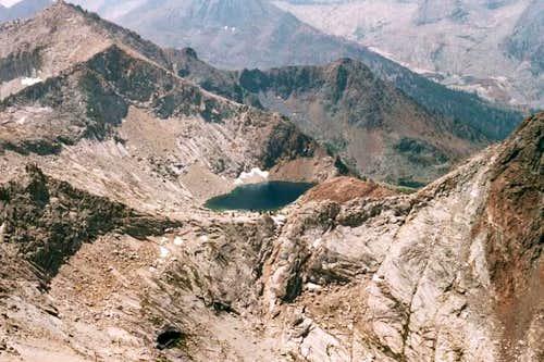 Crystal Lake from Sawtooth Peak