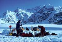 Camp on the Kahiltna Glacier,...