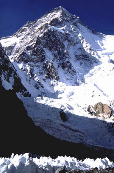 K2 from base camp. July 1992,...