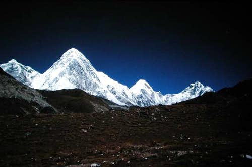 Pumori as seen from Loboche,...