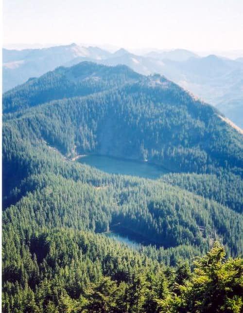 Bandera Mountain seen above...