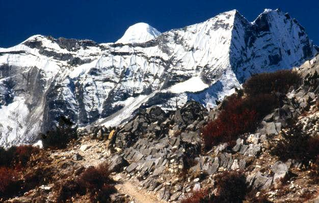 Kwangde from above Namche on...