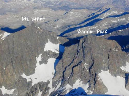 Banner Peak and Mt. Ritter...
