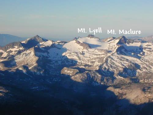 Mt. Maclure and Mt. Lyell,...