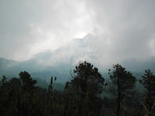 Iztaccihuatl as seen on a...