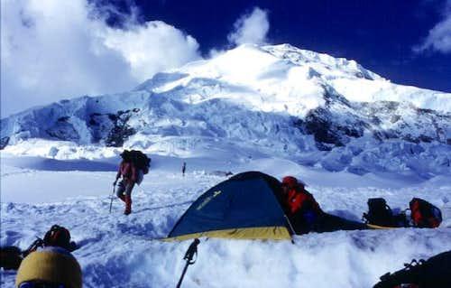 Camp 1 of Huascaran Sur....