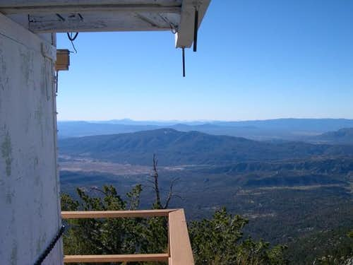 View from lookout tower on...