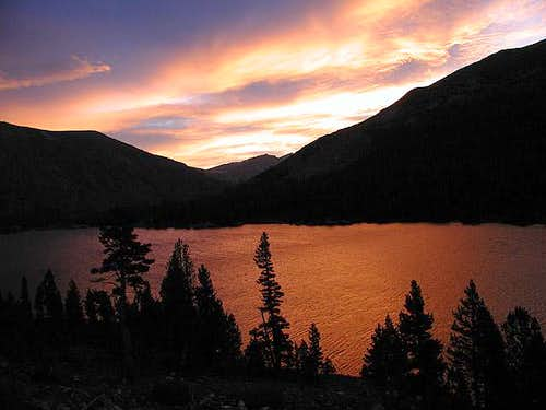 Sunrise over Tioga Lake at...
