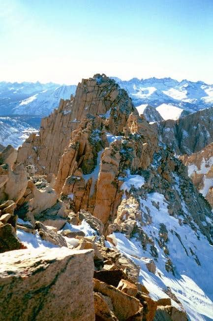 The higher West summit of...