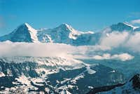 Eiger, Moench and Jungfrau on...