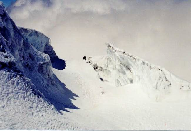 Ice fall near the summit