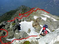 The route from Stujack Pass...