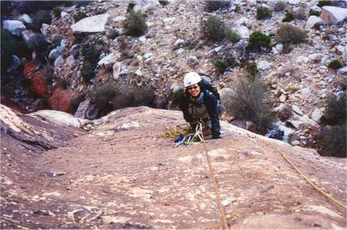 Shirley belaying me from the...
