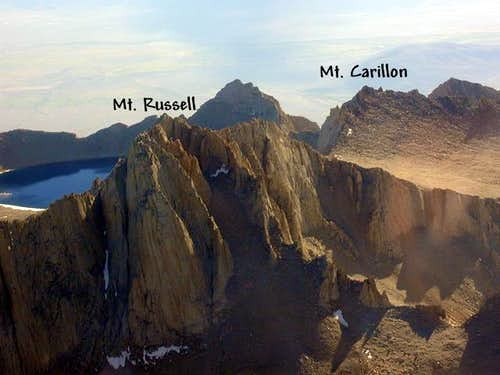 Mt. Russell and Mt. Carillon...