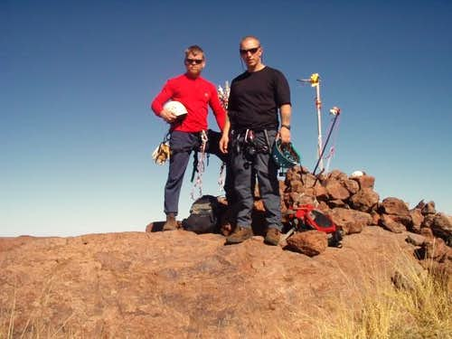 Will Worley and I at the summit