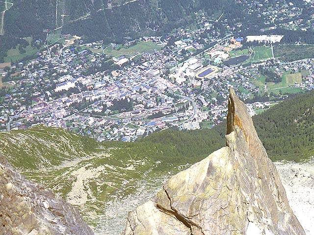 Looking down on Chamonix from...