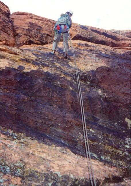 The single (one rope) rappel...