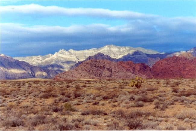 View across Calico Basin on...