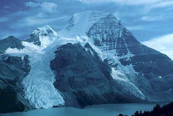 Mt. Robson from slabs above...