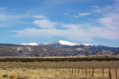 Mount Taylor in Winter....