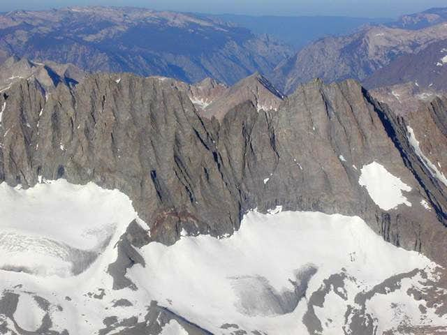 Middle Palisade on the left,...