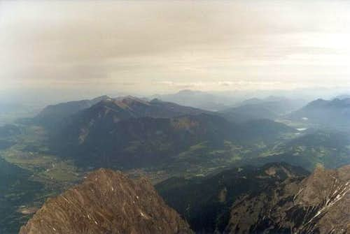 View from Zugspitze to the...