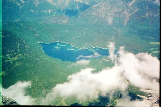 Eibsee from Zugspitze....
