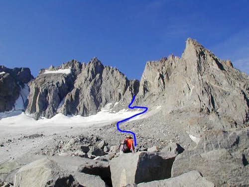 Underhill Couloir, Right-Hand