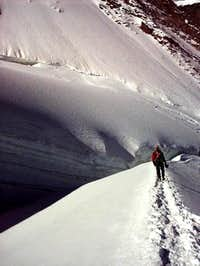 Crevasse on normal route