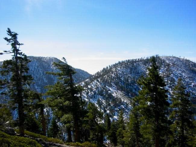 Cucamonga Peak (left) with...